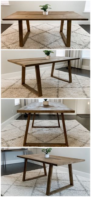 6FT x 3FT Solid Wood Rustic Modern Dining Table for Sale in Stockton, CA