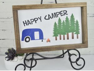 Happy Camper Handcrafted Sign for Sale in Ruskin, FL