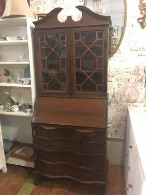 Large Antique solid mahogany drop front desk for Sale in San Diego, CA