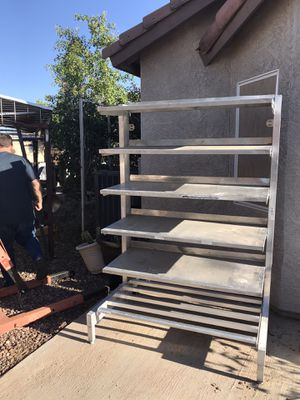 6ft Aluminum shelves for Sale in El Mirage, AZ