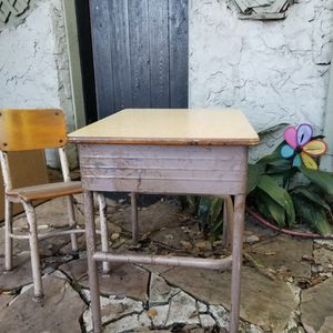 Vintage Child's School Desk And Chair for Sale in Houston, TX