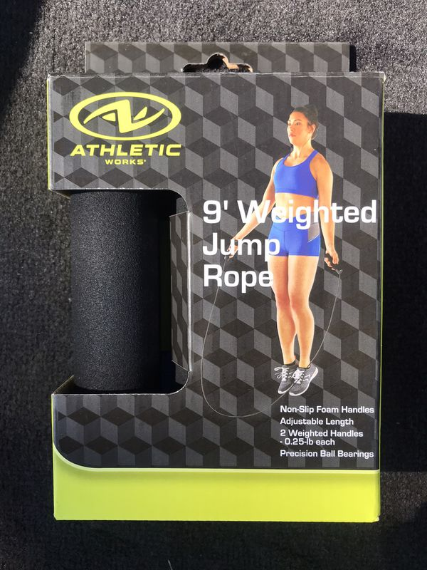 Athletic works weighted 9 foot jumprope