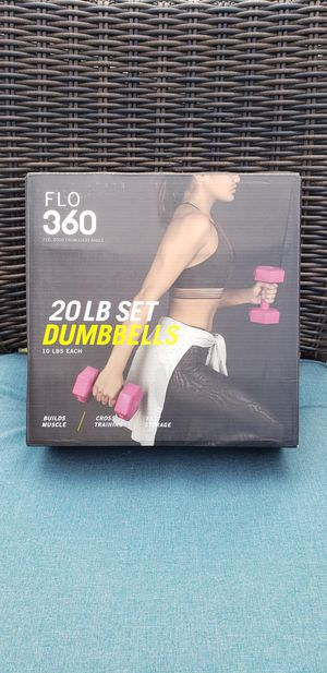 Pair Dumbbell 20lbs Total $20 (New) for Sale in Evergreen Park, IL