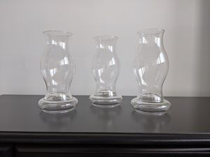 Huricane glass candle shade and holder like new! - for Sale in Alexandria, VA