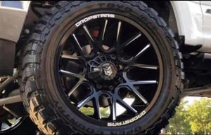 "20"" DROPSTARS Wheels & Tires Package: • 20x10 Rims Gloss Black (DS-654) • 33x12.50R20 M/T Tires • FREE Leveling Kit Complete Package Only $1999 for Sale in La Habra, CA"