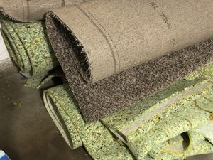 500 Square Feet of Carpet and underlayment for Sale in Corona, CA