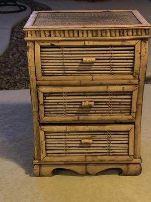 3 drawer rattan cute decor for Sale in Chandler, AZ