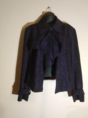 Women's size 16 cropped Blazer jacket purple black for Sale in Takoma Park, MD