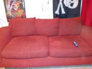 Comfy red couch must go now for Sale in Arvada, CO