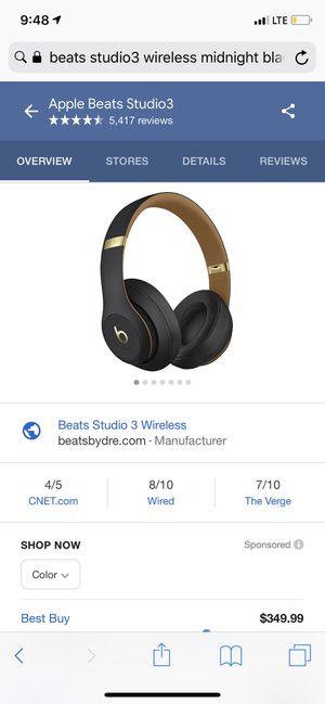 Beats Studio3 Wireless - Skyline Collection (Midnight Black) for Sale in Washington, DC