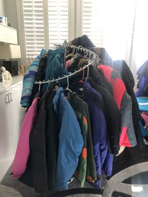 Snow jackets coats bibs snow pants boots hats gloves for all family for Sale in Jacksonville, FL