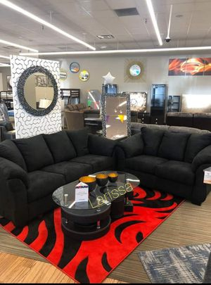 🍻New Ashley Black Living Room Set / Couches☆Sofa & Loveseat included☆Chair and Ottoman sold separately💥39 DOWN PAYMENT🍻 for Sale in Houston, TX
