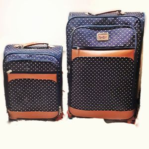Jessica Simpson vintage polka dot spinner luggage set for Sale in Phoenix, AZ