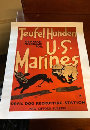 US Marines poster for Sale in Gaithersburg, MD