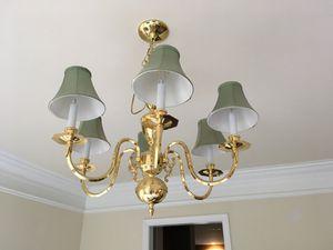 Brass chandelier for Sale in Manassas, VA