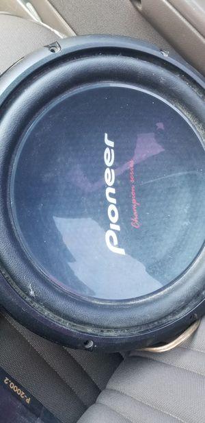 "12"" Pioneer subwoofers for Sale in Turlock, CA"