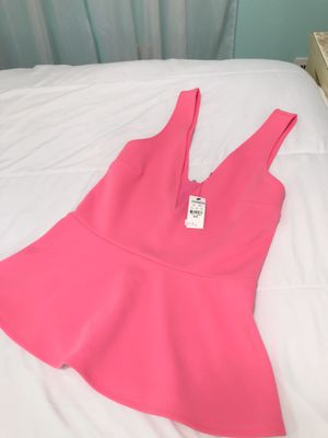 Express Hot Pink Top V Neck for Sale in Chamblee, GA