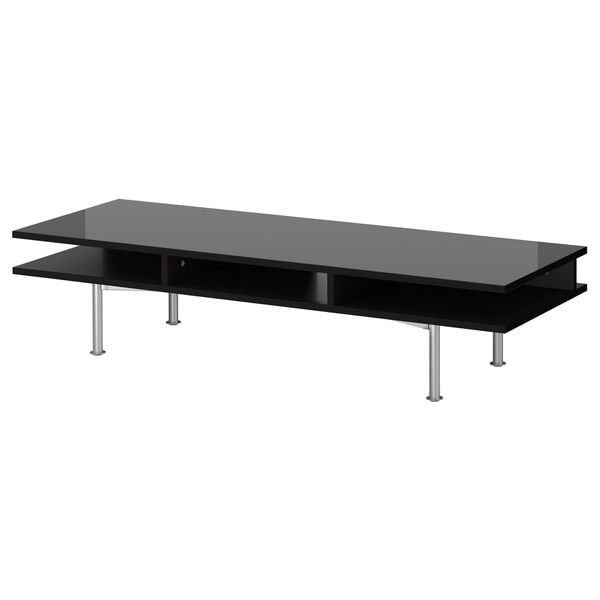IKEA Black Glossy Contemporary TV Stand
