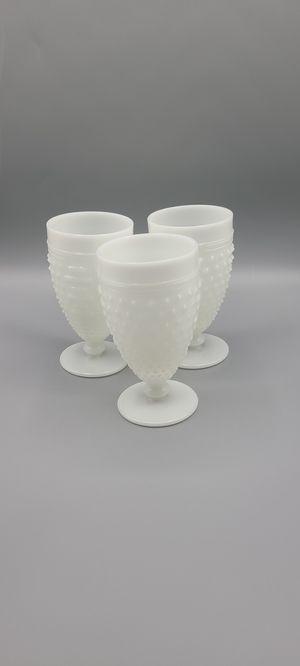 Anchor Hocking Hobnail Milk Glass Pattern - Water Goblet - for Sale in Phoenix, AZ