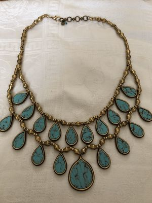 Gold Tone Turquoise Necklace for Sale in Joplin, MO