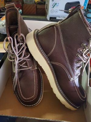 Dickies Men's Trader 6 in. Work Boots - Steel Toe - BURGUNDY Size 9.5(M) for Sale in Phoenix, AZ