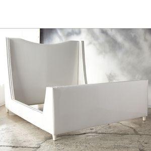 Shine by S.H.O. Yves queen bed gray velvet upholstered nailhead trim ($7000) for Sale in Santa Clara, CA