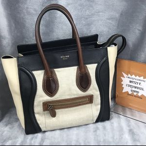 CELINE MICRO TOTE LUGGAGE TRICOLOR VGC for Sale in Westerville, OH