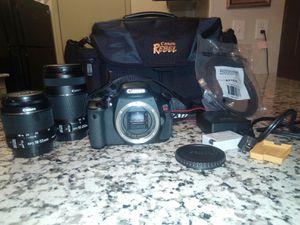 Canon EOS Rebel t3i complete camera kit for Sale in Dallas, TX