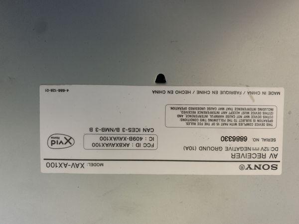 SONY XAV-AX100 Av receiver