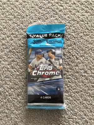 2020 Topps Chrome Value Pack Cello for Sale in Herndon, VA