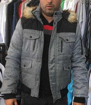 Men's bomber zip up hoodie jacket size large and XL only for Sale in Los Angeles, CA