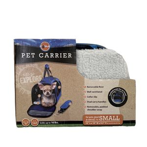Blue Pet Carrier for XS/ Small Pet 15x10x9.5 for Sale in Las Vegas, NV
