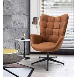 Iris Brown Swivel Arm Chair Wingback Balloon Chair for Sale in Pico Rivera,  CA