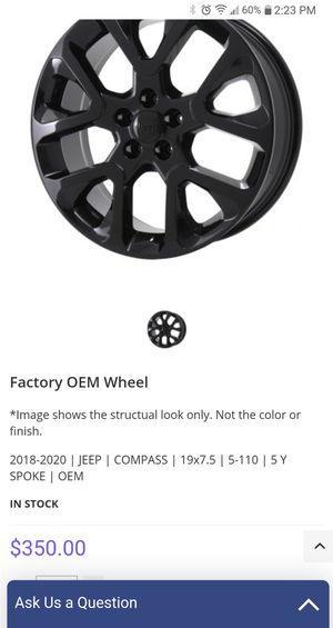 "Brand new 19"" rims and tires for Sale in Redford Charter Township, MI"