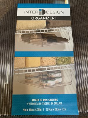 Inter design Organizer Shelf for Wire Shelving for Sale in Wantagh, NY