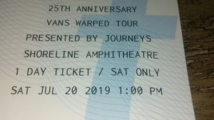 Warped tour tickets 25th anniversary for Sale in Dublin, CA
