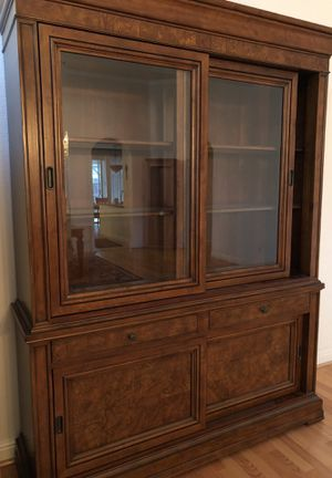 China Cabinet/ lighting , shelving and storage . Beautiful piece for Sale in Modesto, CA
