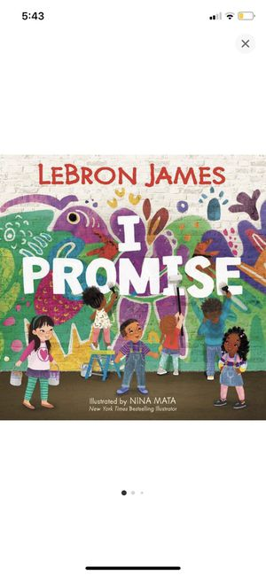 Lebron James book-I promise book for Sale in Anaheim, CA