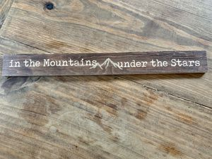 Rustic Mountain Sign for Sale in Charlotte, NC