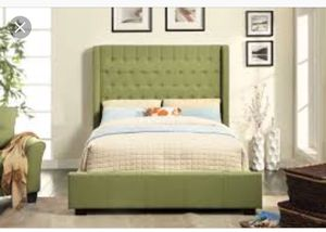 Queen size bed frame with queen mattress for Sale in Washington, DC