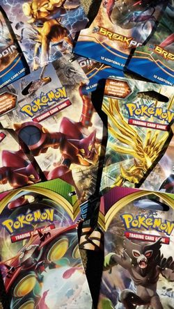10x Pokemon Card Packs. Vivid Voltage, Steam Siege, XY Breakpoint for Sale in Newcastle,  WA