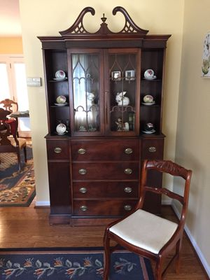 Cherry Secretary/desk/display cabinet for Sale in Springfield, VA