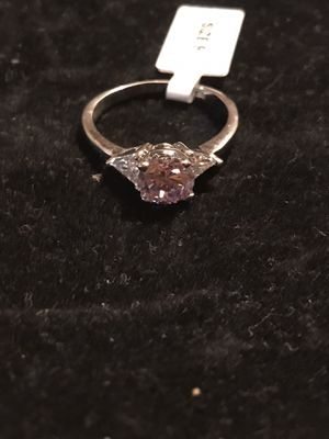 BRAND NEW STERLING SILVER LADIES RING WITH LAVENDER CZ for Sale in Seaford, DE