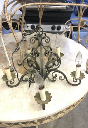 Antique Vintage Art Deco Nouveau Metal Italian Chandelier Lamp Light Wired RC for Sale in Joint Base Lewis-McChord, WA