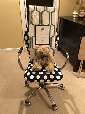 Heated bear, curtains and rolling chair for Sale in Falls Church, VA