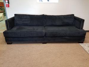Black Soft Velvet Studded Couch for Sale in Denver, CO