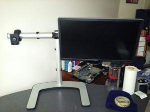 "Visidec - Dual Display Stand - Black/Silver Visidec - Dual Display Stand - Black/Silver Dual Display Stand - Black/Silver Visidec - ""NO MONITOR"" for Sale in Herndon, VA"