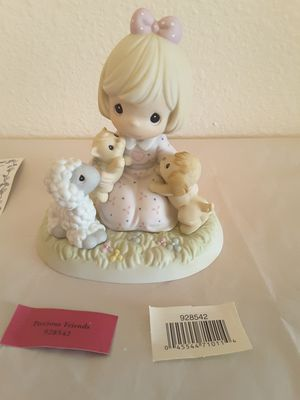 Friendship Themed Precious Moments Porcelain Figurines and Willow Tree Wooden Figurine for Sale in Brown Deer, WI