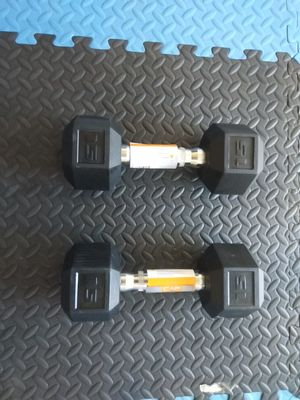 Pair 15 pds hex weights for Sale in Modesto, CA