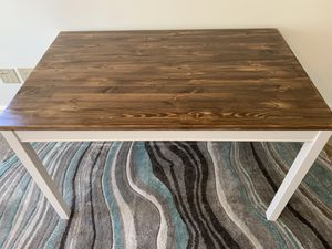 Beautiful rectangular solid wood dining table- farmhouse style for Sale in Stow, MA